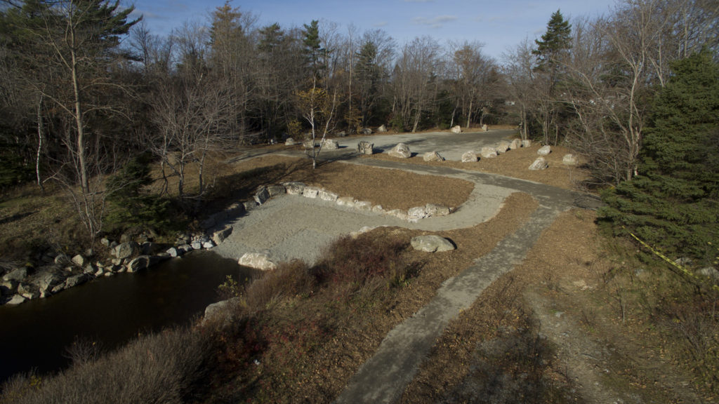 Long Lake Park's phase 2 access is now underway, the old pumphouse site off of Old Sambro Road has seen the parking lot resurfaced and the old concrete pumphouse base has been replaced with a boat launch and pathways.